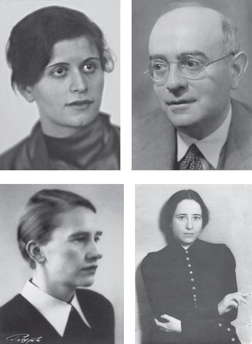 Gretel Adorno, Berlin 1931 / Theodor W. Adorno, Los Angeles, 1946 / Margarete Steffin, 1940 / Hannah Arendt, 1931