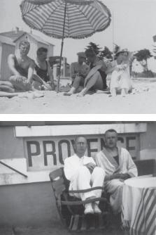 Emil Hesse-Burri, Benjamin, Brecht, Bernard von Brentano and Margot von Brentano, Le Lavandou, June 1931
