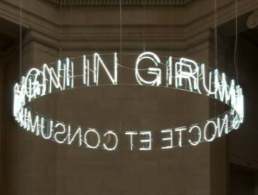 In Girum Imus Nocte et Consumimur Igni 2006 Cerith Wyn Evans born 1958 Purchased 2006 http://www.tate.org.uk/art/work/T12314