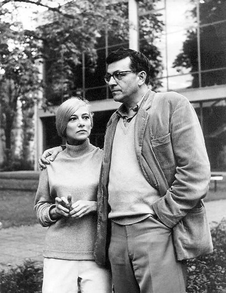 Peter Weiss and Gunilla Palmstierna 1965, Theater der Freien Volksbühne Berlin